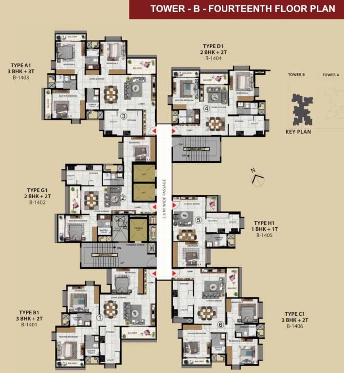 Fourteenth Floor Plan
